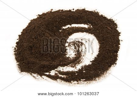 The soil heap isolated on white background poster