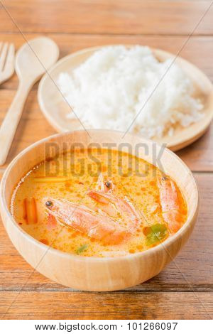 Spicy Soup And Jasmine Rice Thai Easy Meal