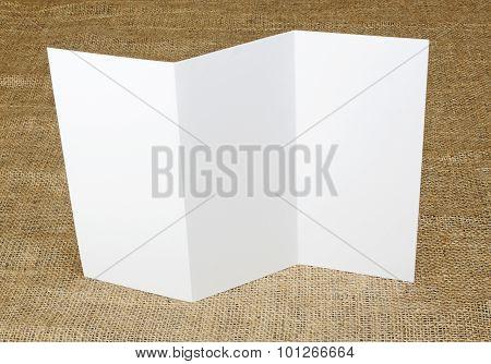 Blank White Folding Paper Flyer