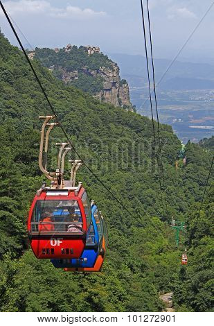 cableway in national park of mountain Lu