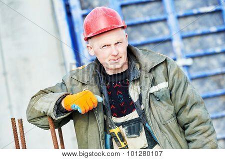construction concreter builder labour worker at building site
