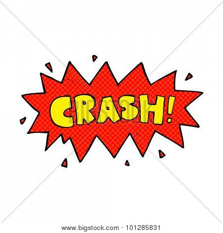 comic book style cartoon comic book crash symbol poster