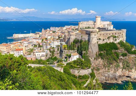 Aragonese-angevine Castle On The Hill In Gaeta