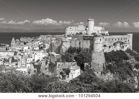Aragonese-angevine Castle In Old Town Of Gaeta
