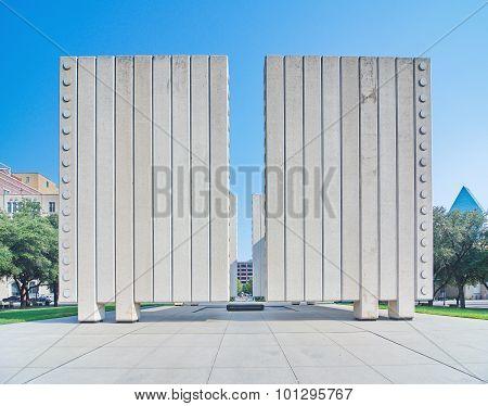 The John F. Kennedy Memorial Plaza In Dallas