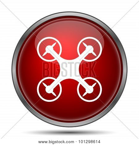 Drone icon. Internet button on white background. poster