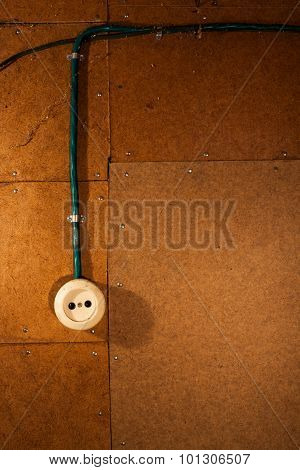 Old white electric socket
