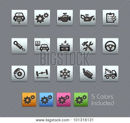 Car Service Icons  The vector file includes 5 color versions for each icon in different layers ----
