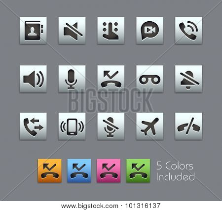 Phone Calls Interface Icons The vector file includes 5 color versions for each icon in different layers ----