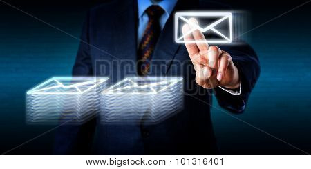 Doing Overtime Stacking Many Emails In Cyberspace