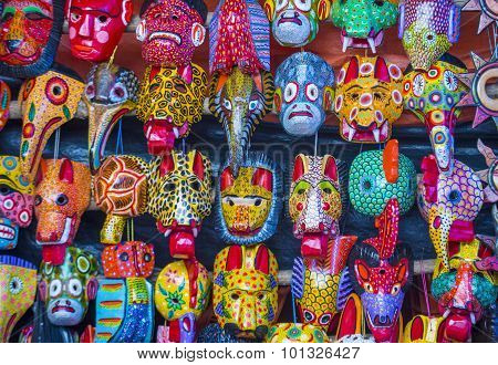 Mayan Wooden Masks
