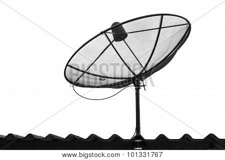 Telecommunication Satelite Dish Isolated