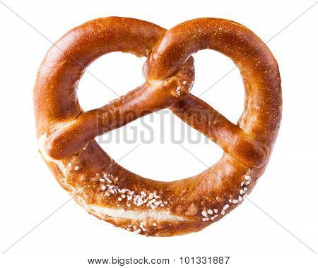 isolated pretzel