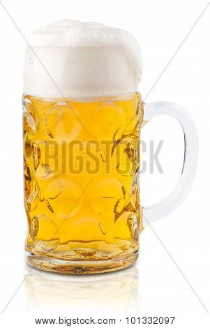 isolated beer glass