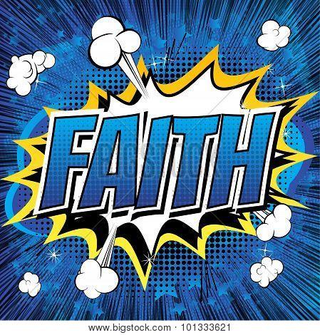 Faith - Comic book style word