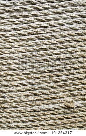 Ecru Thick Rope Wrapped Around  Pillar