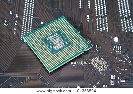 Central Processing Unit CPU on the motherboard poster
