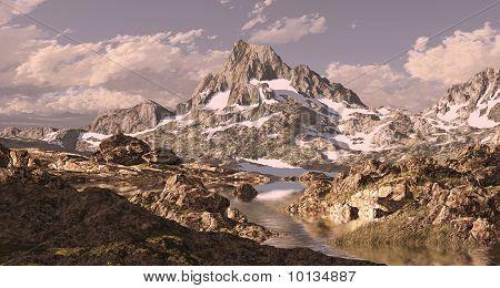 Banner Peak Sierra Nevada