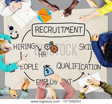 Recruitment Hiring Skill Qualification Job Concept poster