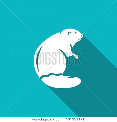 Beaver Icon. Vector Illustration.