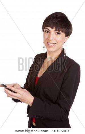 Looking At Phone Texting