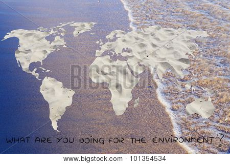 Surreal Image Of A Desertified World: Do Your Part To Save The Planet