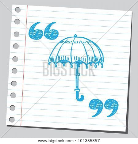 Umbrella in speech marks
