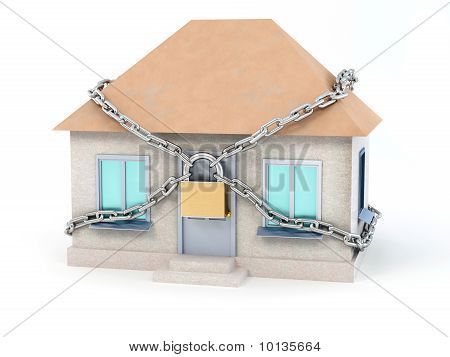 Home, Chain And Padlock