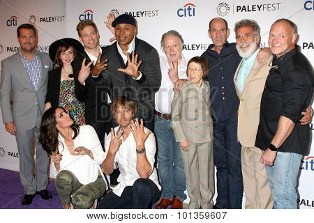LOS ANGELES - SEP 11:  NCIS LA Cast with Executive Producers at the PaleyFest 2015 Fall TV Preview - NCIS: Los Angeles at the Paley Center For Media on September 11, 2015 in Beverly Hills, CA