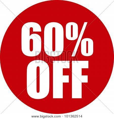 60 Percent Off Icon
