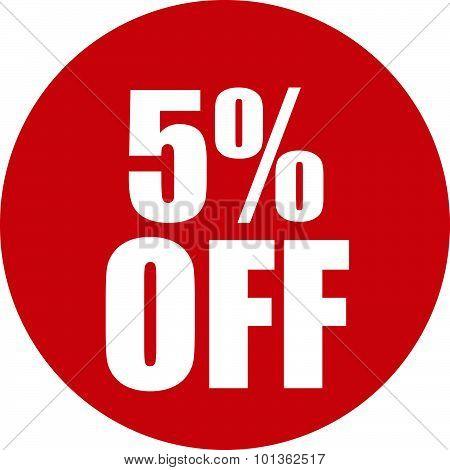 5 Percent Off Icon