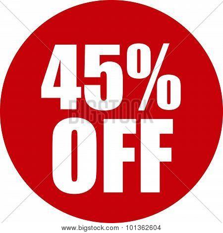 45 Percent Off Icon