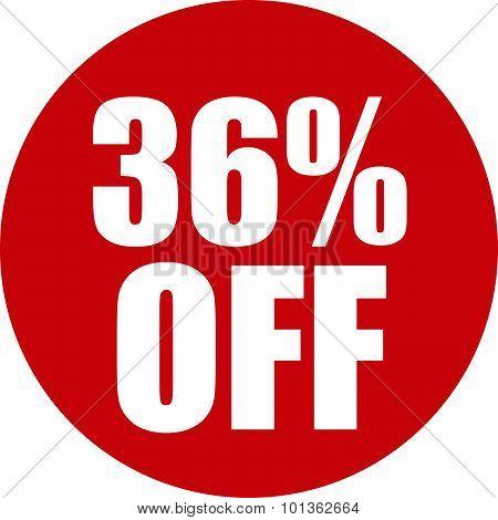 36 Percent Off Icon