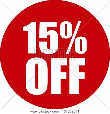 15 Percent Off Icon