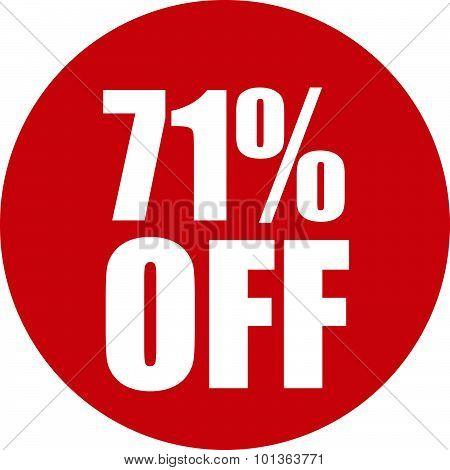71 Percent Off Icon