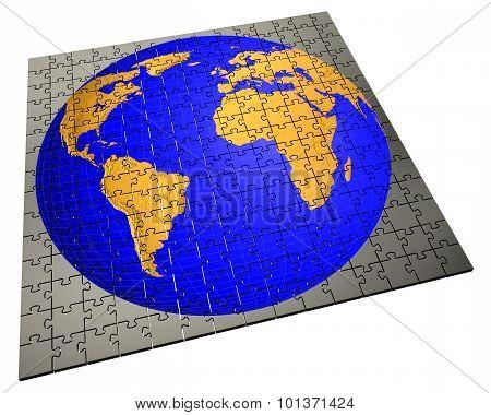 Global strategy jigsaw puzzle