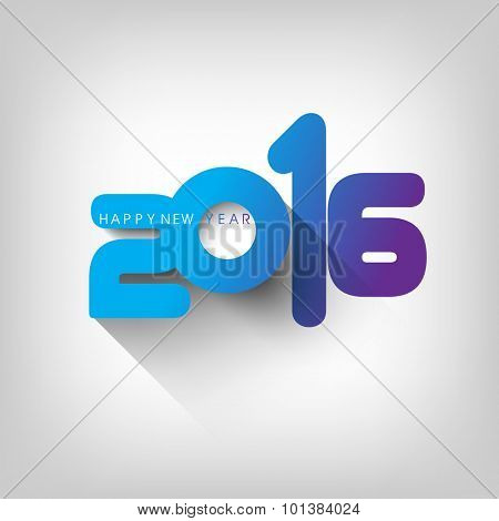 happy new year, 2016 typography background design