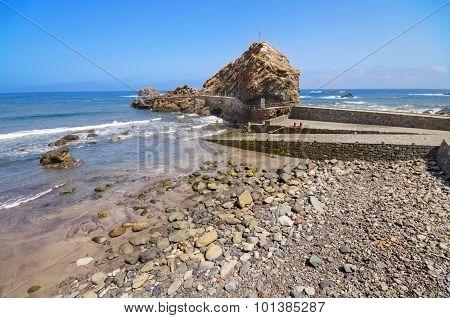 Roque de las Bodegas in Taganana coastline Tenerife Canary Island Spain.
