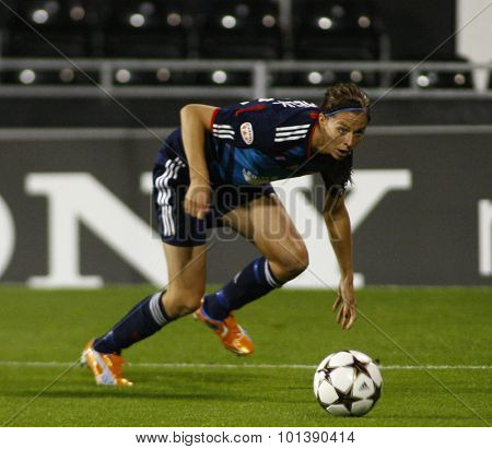 LONDON, ENGLAND. 26 MAY 2011 Lyon's forward Lotta Schelin  during the 2011UEFA Women's Champions League final between FFC Turbine Potsdam and Olympique Lyonaise, played at Craven Cottage Fulham