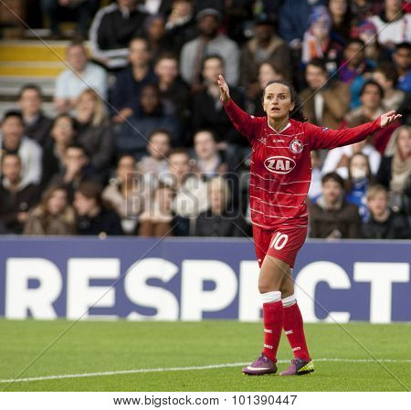 LONDON, ENGLAND. 26 MAY 2011 Potsdam's midfielder Fatmire Bajramaj during the 2011UEFA Women's Champions League final between FFC Turbine Potsdam and Olympique Lyonaise,played at Craven Cottage Fulham
