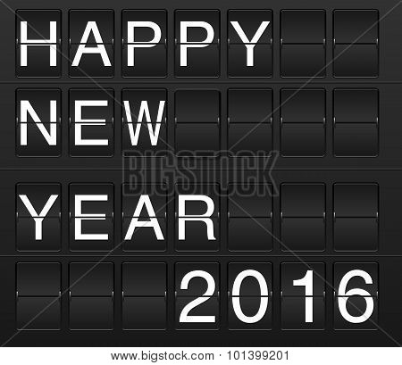 Happy New Year 2016 In Flyboard Style