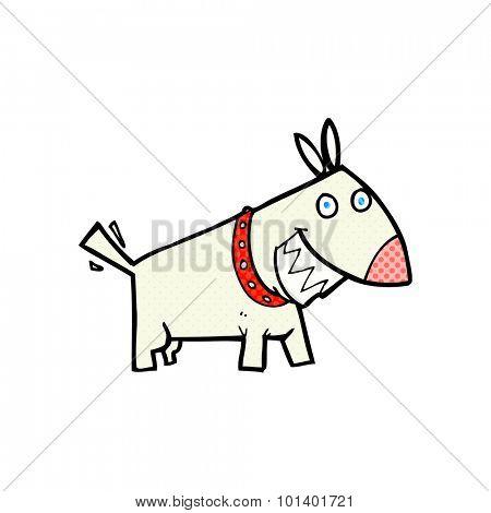 comic book style cartoon dog