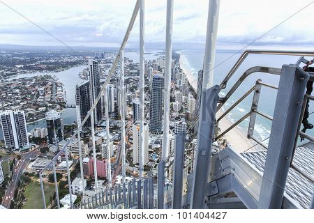 Gold Coast Q1 rooftop stairs