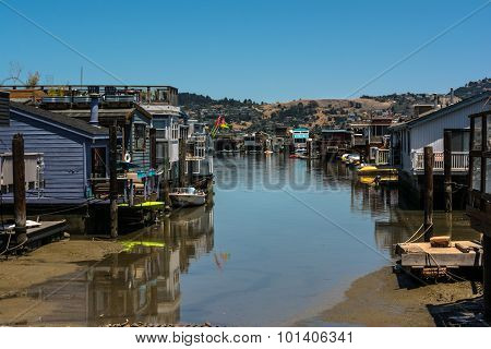 Sausalito,California,USA - June 8, 2015 : The Houseboats in Sausalito