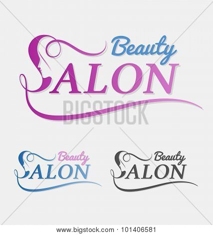 Beauty Salon Logo Design With Female Face In Negative Space On Letter S.