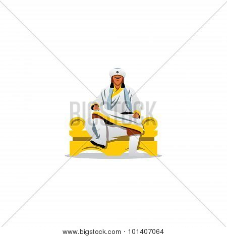 Khan Of The Golden Horde Sign. Vector Illustration.