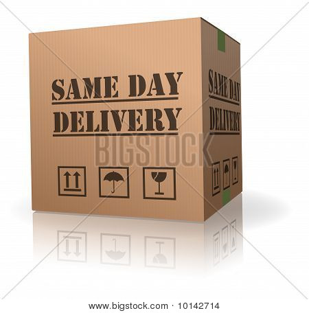 Same Day Delivery shipment box