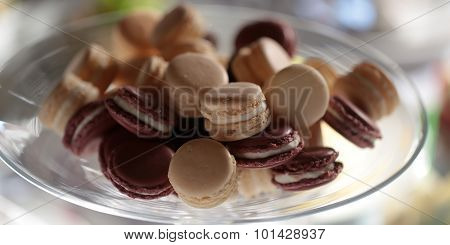 Brown And White Macaron Cookies