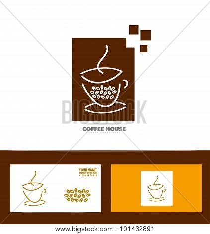 Coffee Cup Logo Icon Set