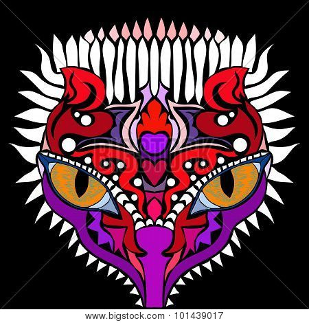 State Of Mind. Colorful Vector Image In Abstract Art Style